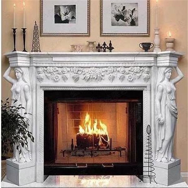 Marble Fireplace Mantel (2)